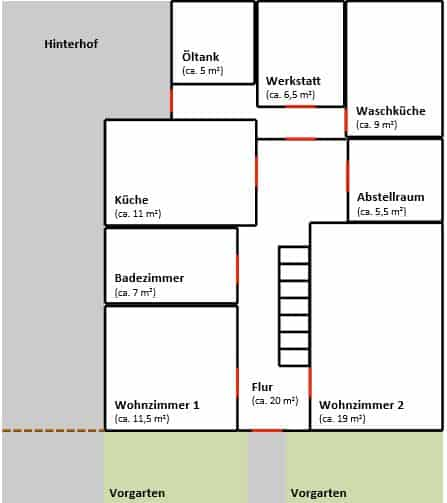 grundriss-altes-fachwerkhaus-erdgeschoss